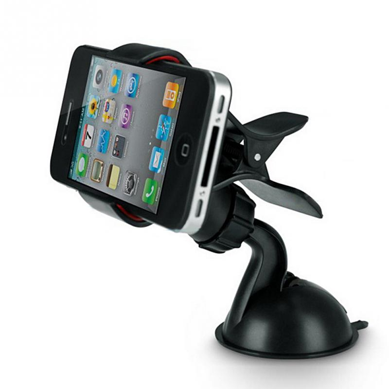 2018 car phone stand GPS Cellphone Holder For Car, Mini ABS Mobile Phone Support, Silicone Sucker