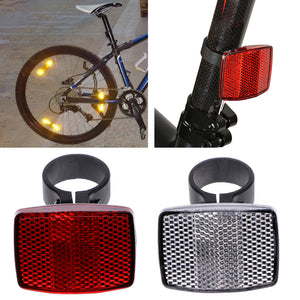 Bicycle Bike Handlebar Reflector Reflective Front Rear Warning Light Safety Lens