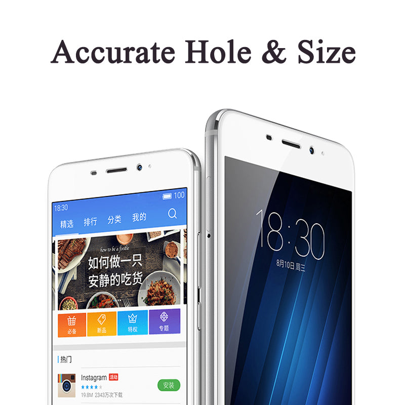 9H Color Full Cover Tempered Glass For Meizu M5S M5C M3 M5 M6 Note Pro 6 7 Plus Screen Protector