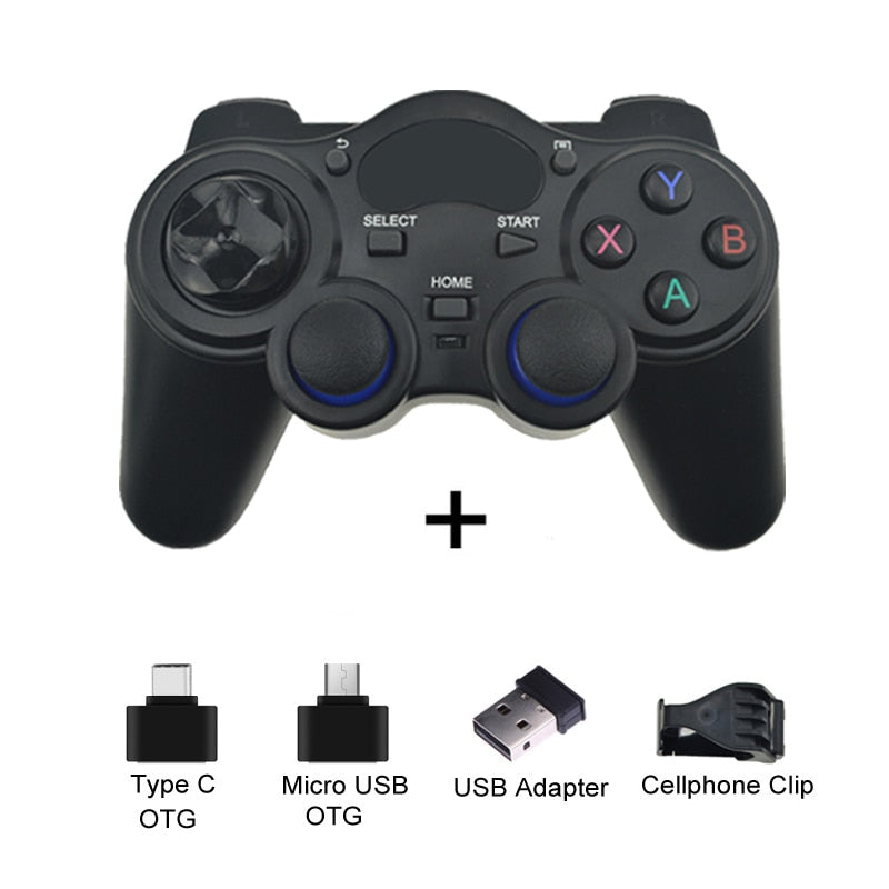 2.4 G Controller Gamepad Android Wireless Joystick Joypad with OTG Converter For PS3/Smart Phone For