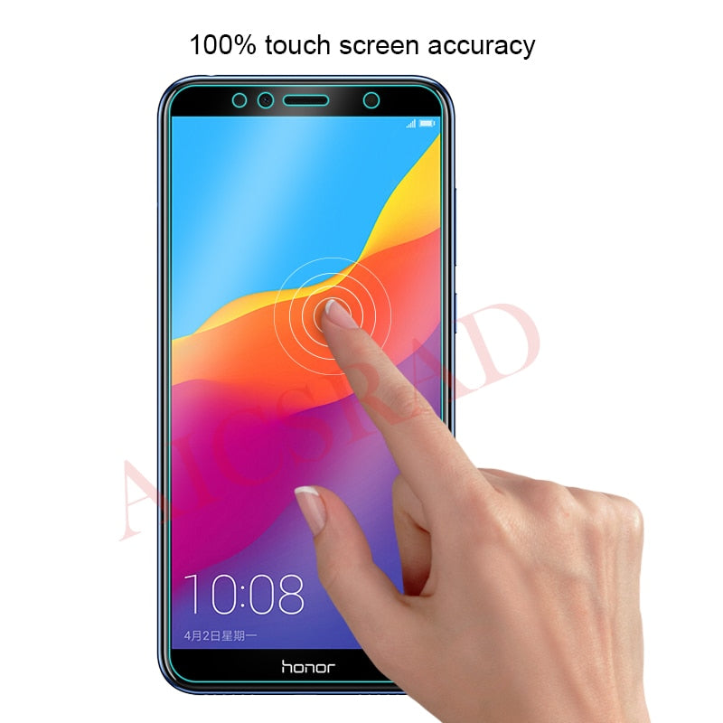 AICSRAD Tempered Glass For Huawei Honor 7C Version Cover Screen Protector film For Huawei