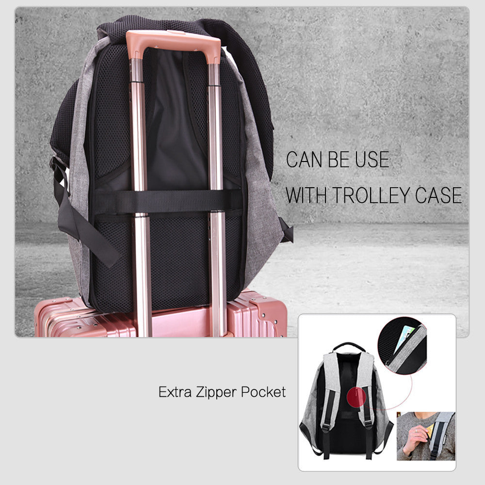 Brand Anti-theft Laptop Bag with USB Charge port 15 15.6 inch Laptop Backpack Notebook Computer