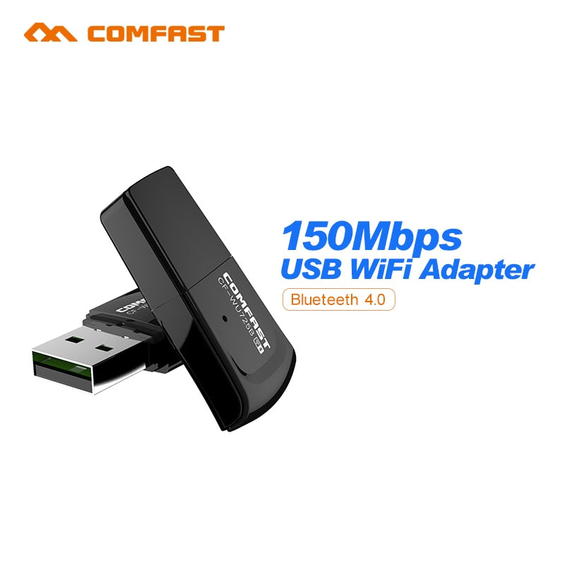 Comfast CF-WU725B Bluetooth 4.0 150Mbps Mini Wireless USB WI-FI Adapter LAN WIFI Network Card