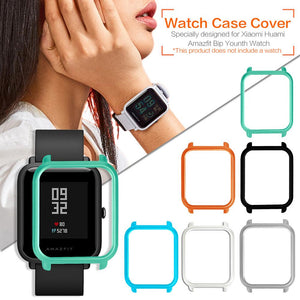 Watch Frame Amazfit Bip Youth Smart Watch Protector Case Slim Colorful Frame PC Case Cover Protect