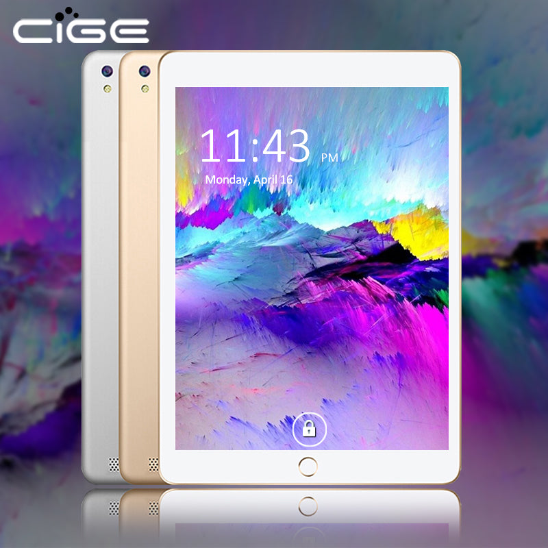 CIGE 10.1 Inch 3G Phablet 800*1280 Octa Core Android 6.0 4GB RAM 32GB 64GB ROM T Dual Camera WIFI BT