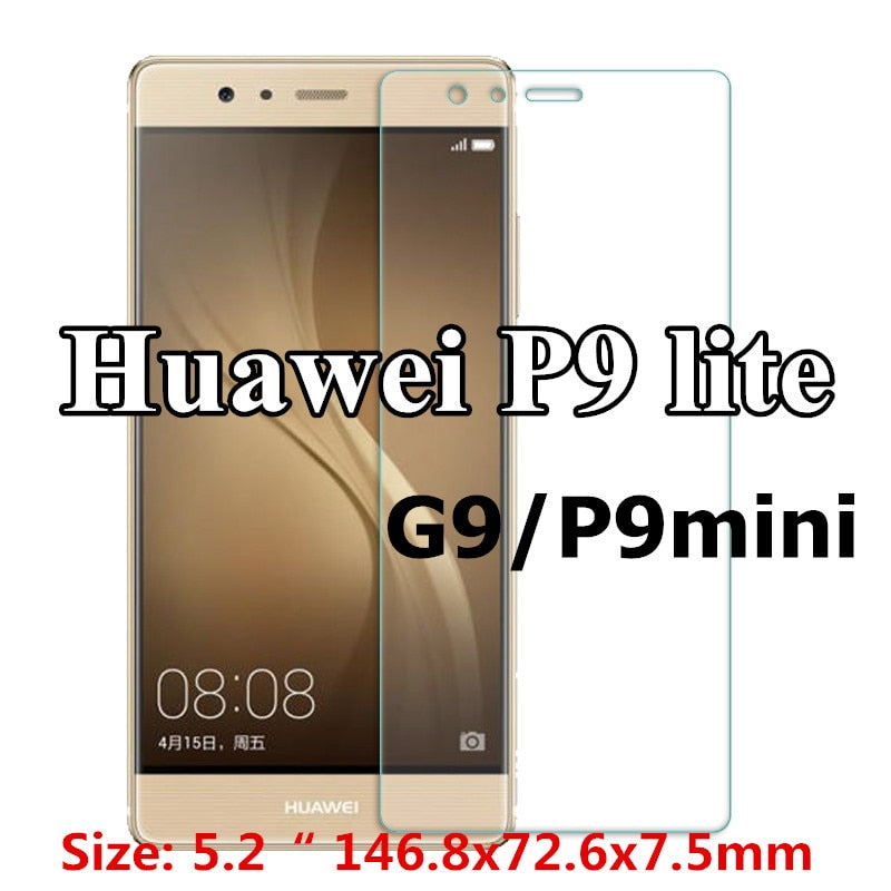9H Tempered Glass for Huawei p9lite P8 P8lite P10lite 2017 Y6 2 compact Honor 7X 9lite 6A 6X 5C 8