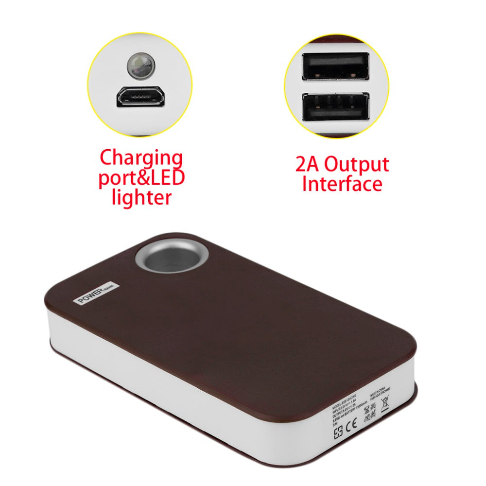 15000mAh Dual USB 5*18650 Portable Power Bank Case External Backup Battery Charger DIY Fast