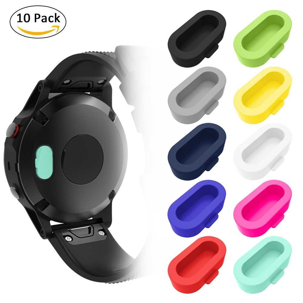 10 PCS/Set Silicone Dustproof Protective Plugs Caps For Garmin Fenix 5 forerunner 935 Anti-Scratch &