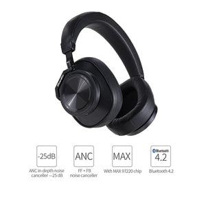 Bluedio T6 Active Noise Cancelling Headphones Wireless Bluetooth Headset with microphone for