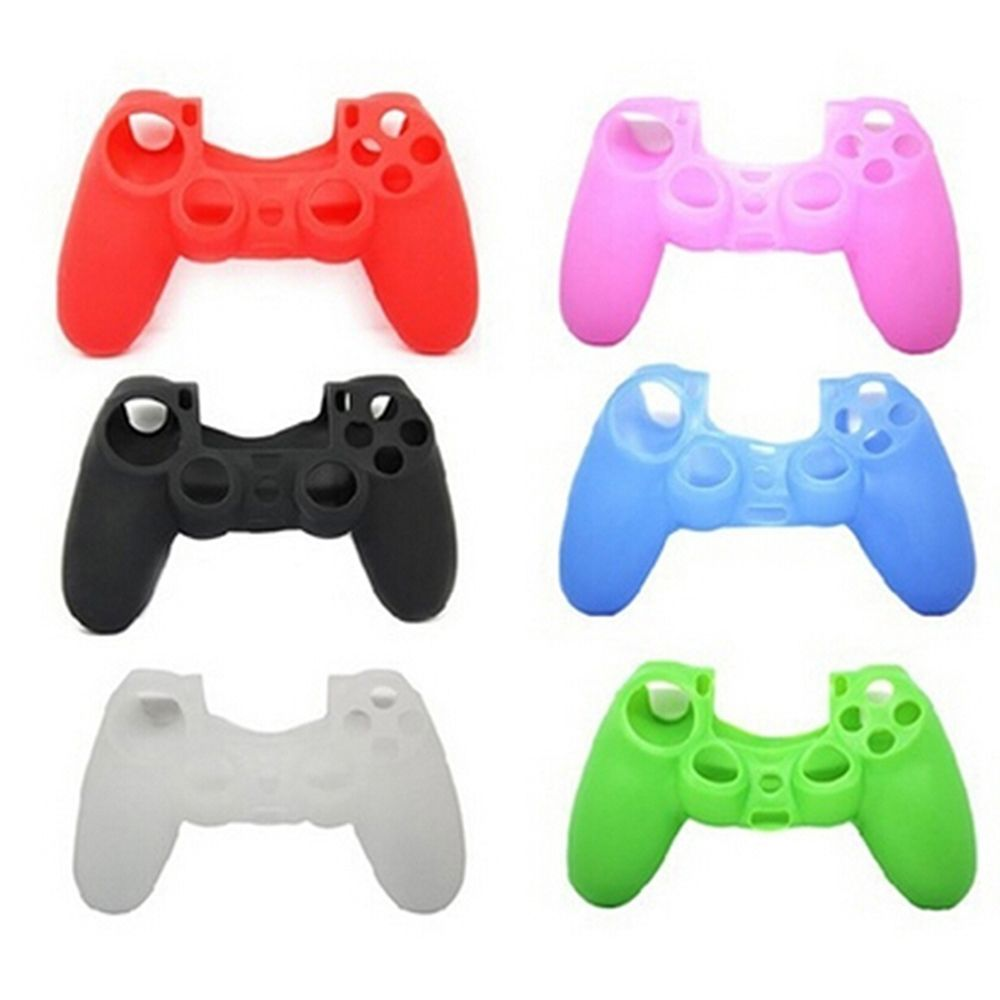 Colorful Fashion Soft Silicone Case Shell Skin Accessories For PS4 Playstation 4 Controllers