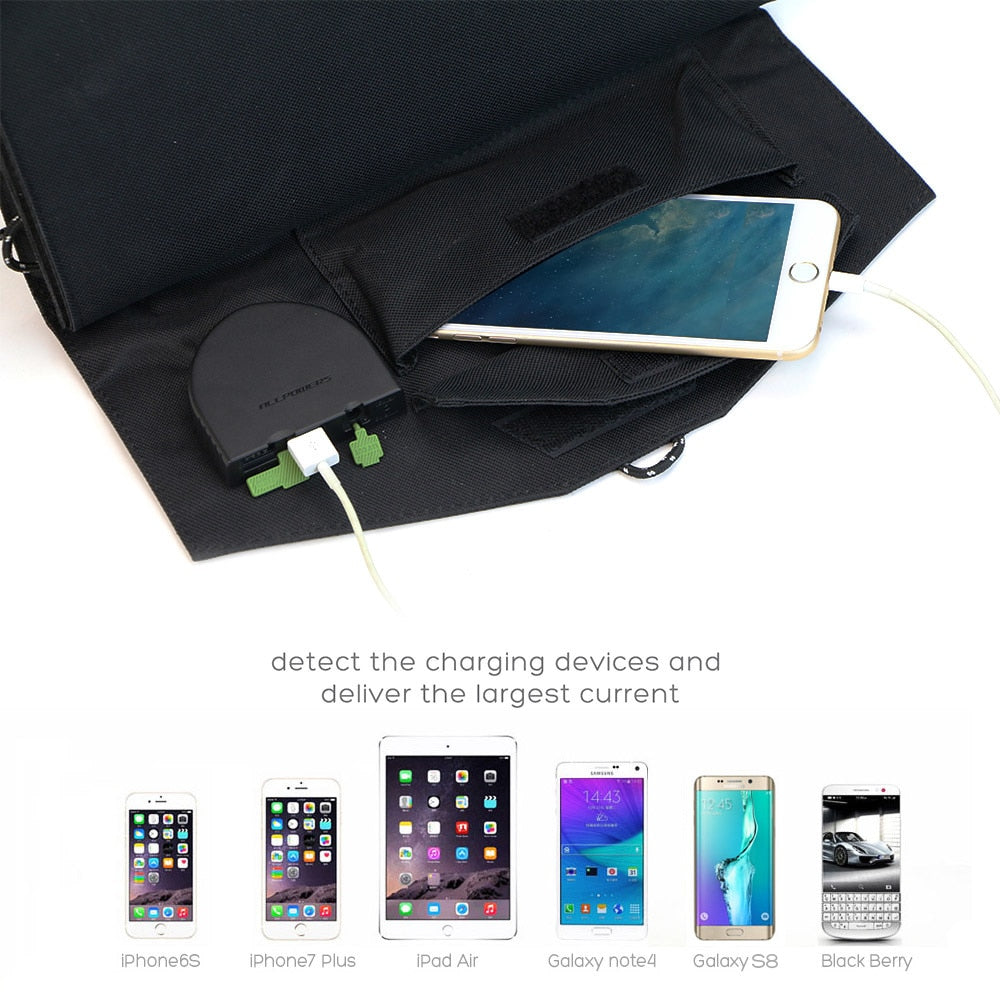 ALLPOWERS Solar Power Bank 80W Solar Laptop Powerbank USB+DC Output for iPhone iPad MacBook