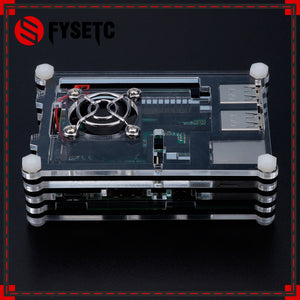 Hot Raspberry Pi 3B+ Case 9 Layers Black Blue Red Acrylic Box Case with Cooling Fan for Raspberry Pi