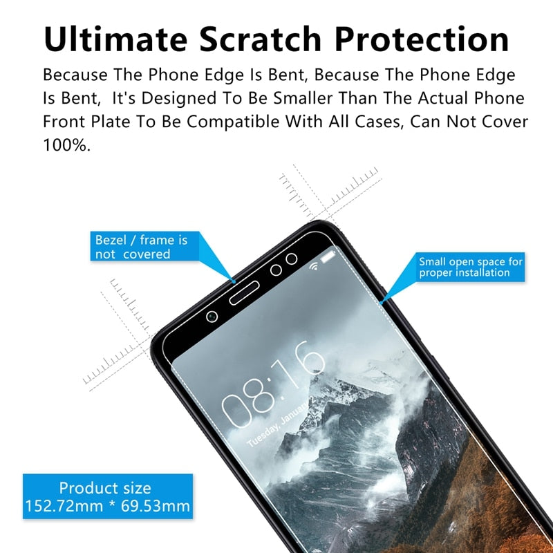 2.5D 0.26mm 9H Premium Tempered Glass For Xiaomi Redmi Note 5 Screen Protector Toughened