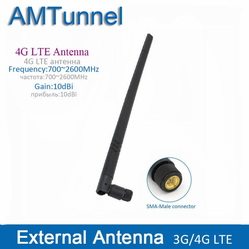 4G LTE external antenna 10dBi 3G 4G router antenna 3G indoor antenna with SMA male connector for