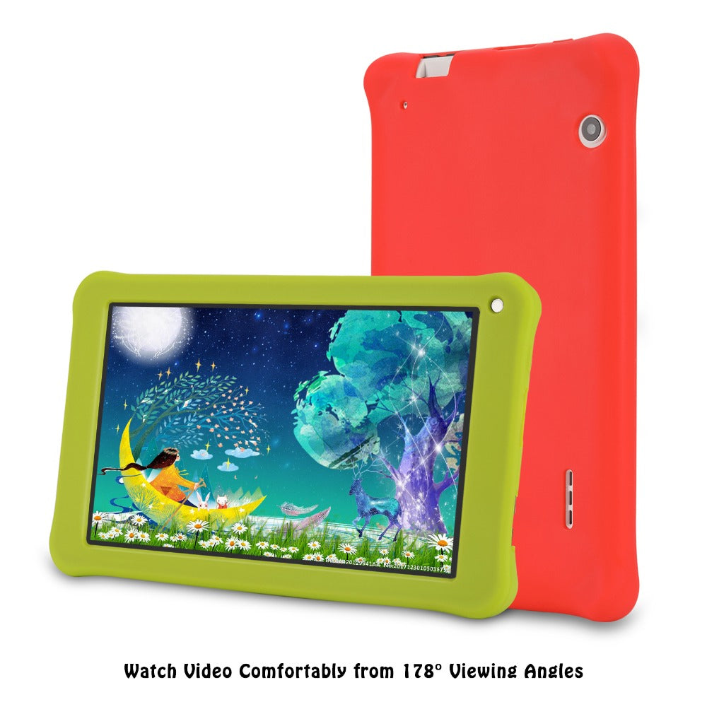 7 inch Kids gift Tablet 16GB/1GB Android 7.0 Aoson M753 Kids Learning Tablet PC with Silicone Case