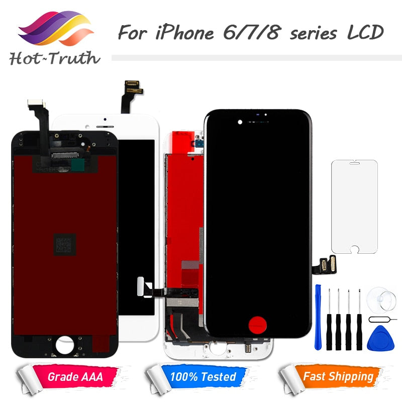 1PCS LCD Display Touch Screen For iPhone 6 6S 7 8 7Plus Screen Pre-assembled Digitizer LCD White
