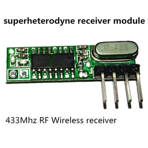 1Set superheterodyne 433Mhz RF transmitter and receiver Module kit small size For Arduino uno Diy