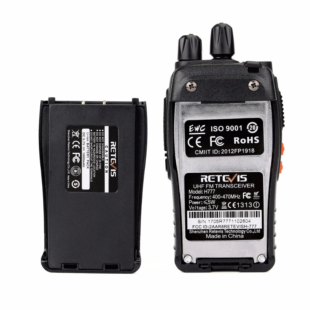 3pcs Walkie Talkie Retevis H777 16CH UHF 400-470MHz Ham Radio HF Transceiver 2 Way Radio