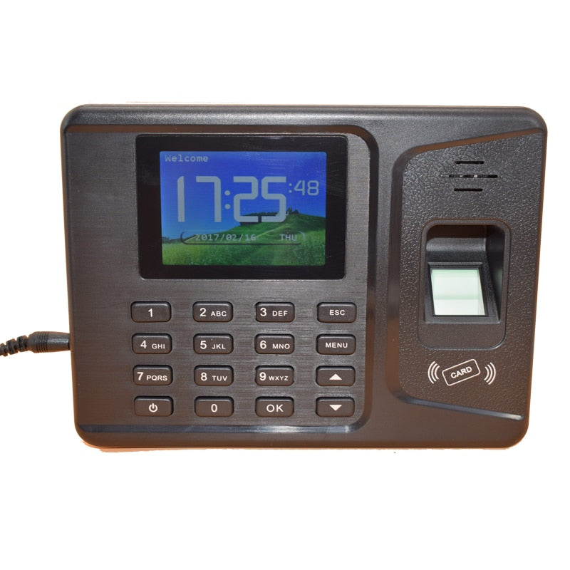 2.8 Inches TFT Display 1000 Users TCP IP USB Rfid Fingerprint Time Attendance 125Khz ID Employee