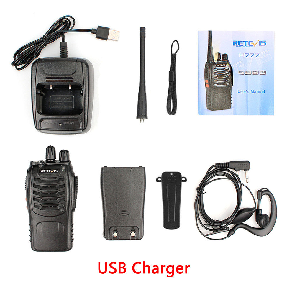 4pcs Portable Walkie Talkie Retevis H777 16CH UHF Ham Radio Hf Transceiver 2 Way cb Radio Station