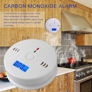 Home Security 85dB Warning High Sensitive LCD Photoelectric Independent CO Gas Sensor Carbon
