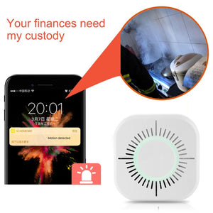 433MHz Wireless Smoke Detector Independent Fire Alarm Sensor 360 Degrees Indoor Home Safety Garden
