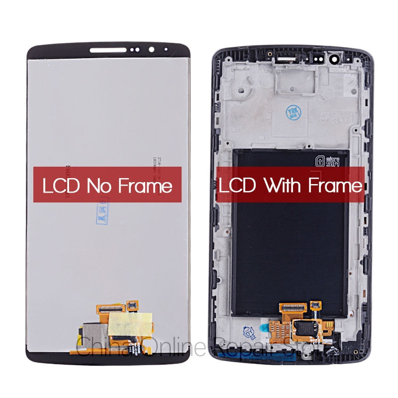 "5.5"" ORIGINAL Display for LG G3 LCD Touch Screen Digitizer with Frame Replacement Screen for LG G3"