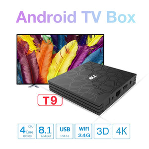 2018 VONTAR T9 Smart TV Box Android 8.1 4GB 32GB 64GB Rockchip RK3328 1080P H.265 4K Google Player