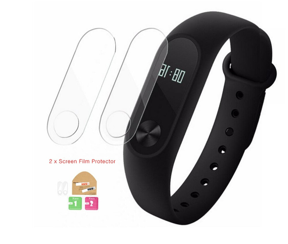 2pcs Xiaomi mi Band 2 Screen Protector Film Anti-explosion screen protective film for Xiaomi mi 2