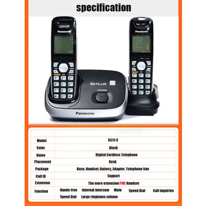 Digital Cordless Phone With Handfree Call ID Wireless Cordless Fixed Landline Telephone For Office