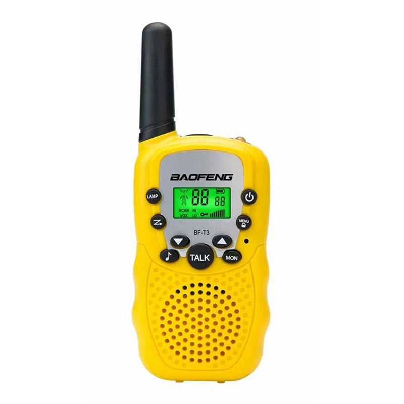 2Pcs Baofeng BF-T3 UHF462-467MHz 8 Channel Portable Two-Way 10 Call Tones Radio Transceiver for