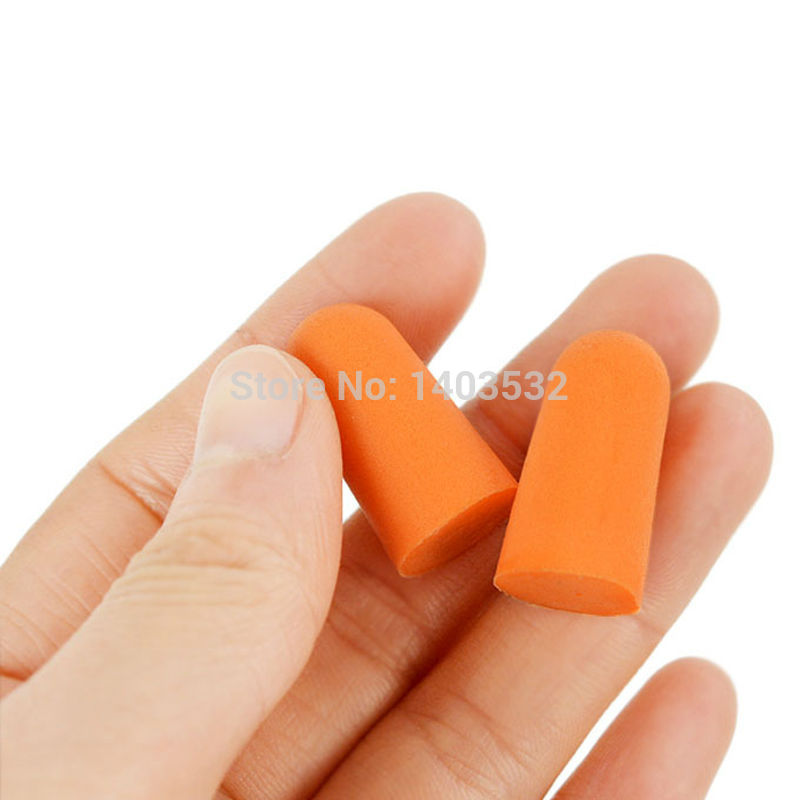 10Pairs Authentic Foam Soft corded Ear Plugs Noise sleep Reduction Norope Earplugs Swimming