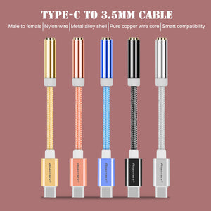USB Type C to 3.5mm Earphone Headphone Cable Adapter USB-C to 3.5mm Jack Aux Cable for Letv 2 2pro