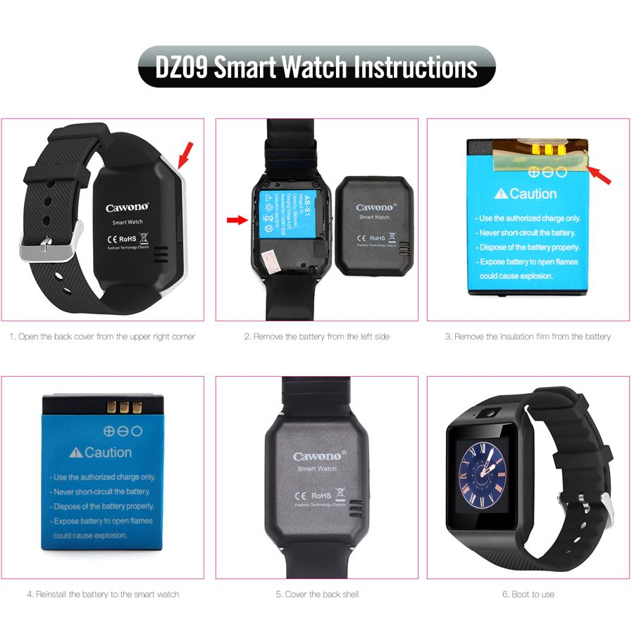 Bluetooth Smart Watch Smartwatch DZ09 Android Phone Call Relogio 2G GSM SIM TF Card Camera for