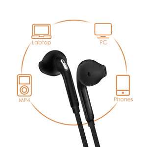 Headphones Music Earbuds Stereo Gaming Earphone for Phone Xiaomi with Microphone for iPhone 5s