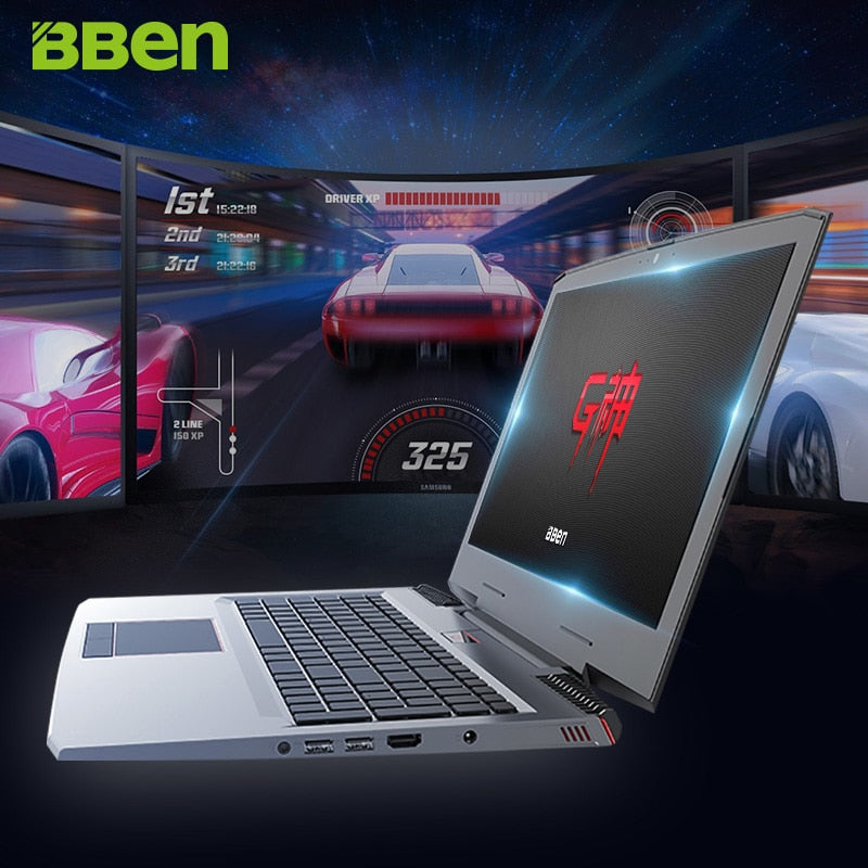 BBEN G16 Win10 Gaming Laptop 1920*1080 IPS Intel I7 7700HQ Kabylake NVIDIA GTX1060 8G/16G/32G RAM