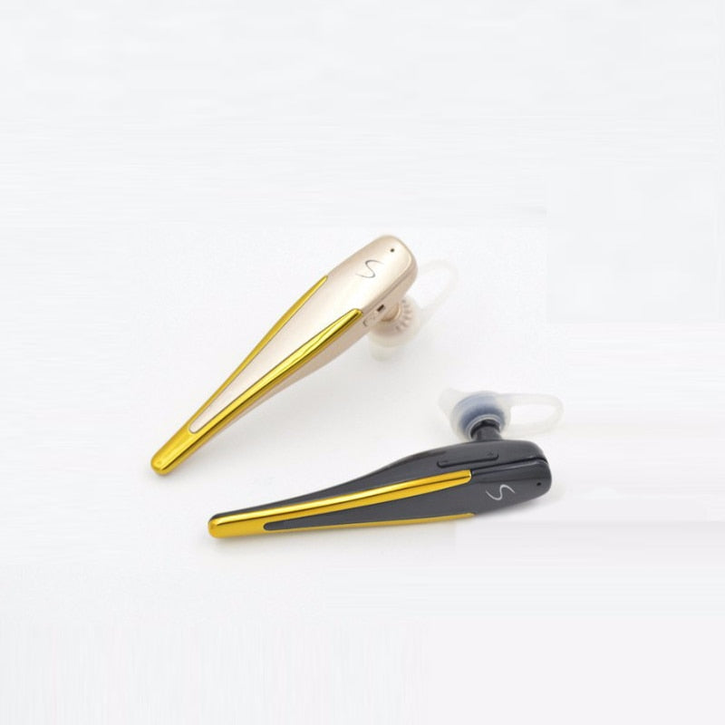 Bluetooth Earphones Earpiece Wireless Headset with Voice Reminder and Noise Cancelling Mic