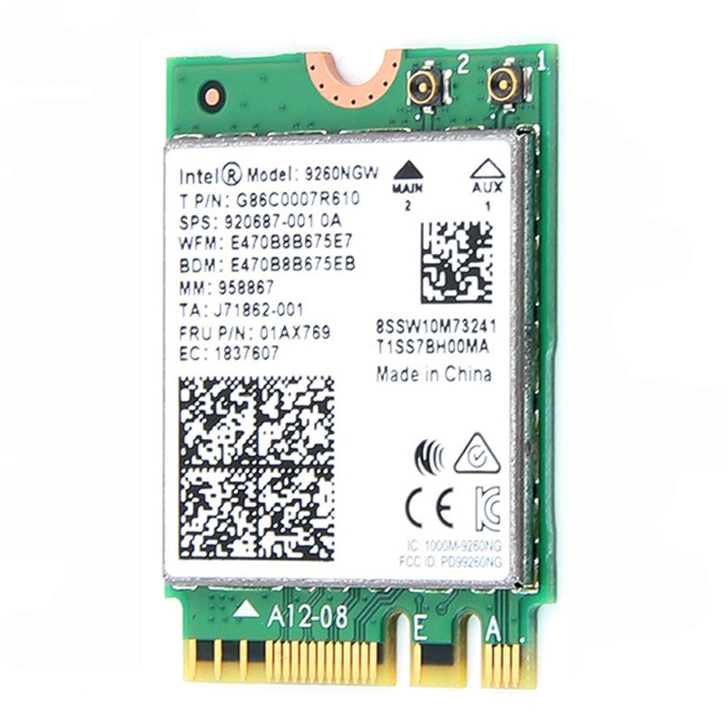 1730Mbps Wireless 9260NGW Wifi Network Card For Intel 9260 AC 2.4G/5Ghz NGFF 802.11ac Wi-fi