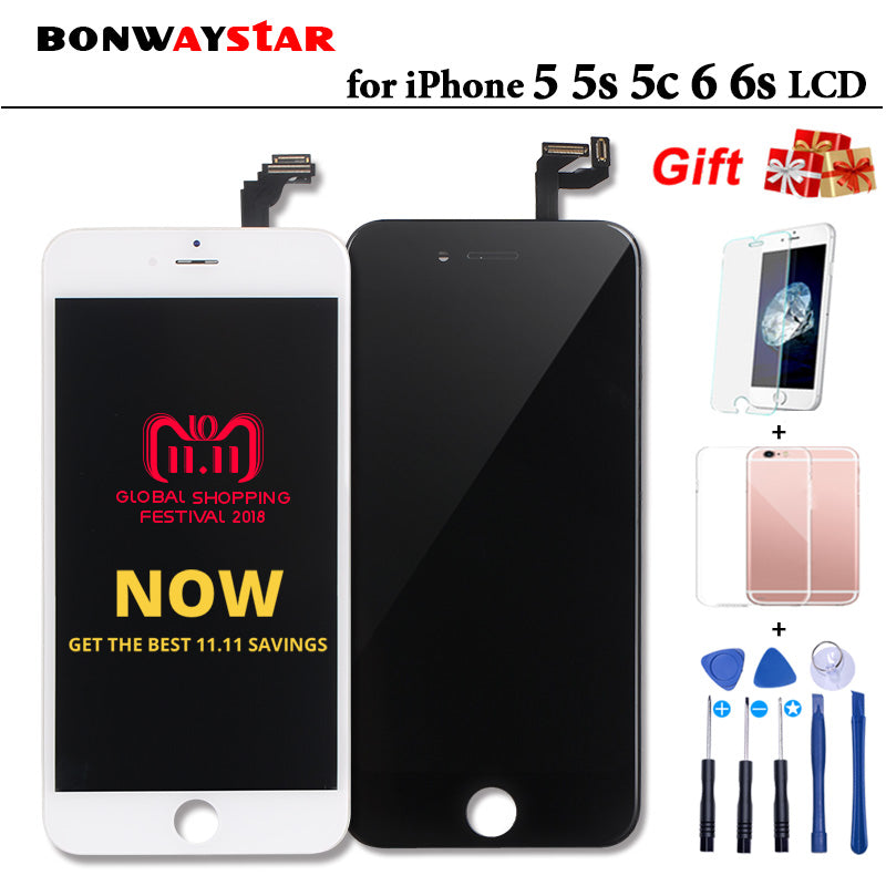 AAA LCD Display For iPhone 5 5s se 6s 6 Touch screen Assembly Replacement with Original Digitizer