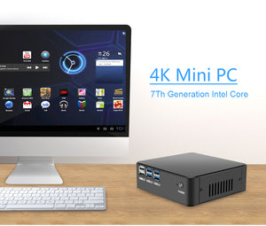 Windows 10 Mini PC Computer Intel Core i7 7500U i5 7200U i3 7100U 4K Support HDMI VGA 300M WiFi