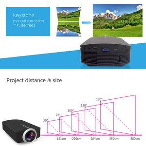 AAO YG500 Upgrade YG510 Mini Projector 1080P 1800Lumen Portable LCD LED Projector Home Cinema USB
