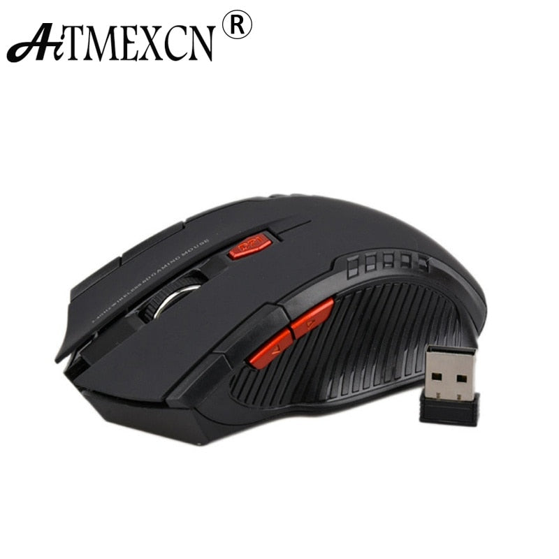 Aitmexcn Optical 2.4Ghz Wireless Mouse Computer Gaming Laser Mouse sem fio 2400DPI Professional