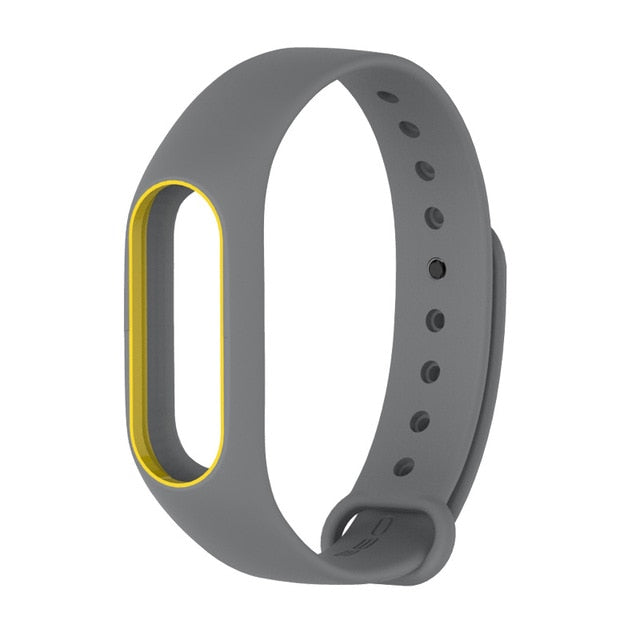 Colorful MiBand 2 Silicone Wrist Strap Bracelet Double Color Replacement watchband for Original