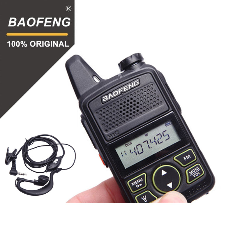 100% Original BAOFENG BF-T1 MINI Walkie Talkie UHF 400-470MHz Portable T1 Two Way Radio Ham Radio