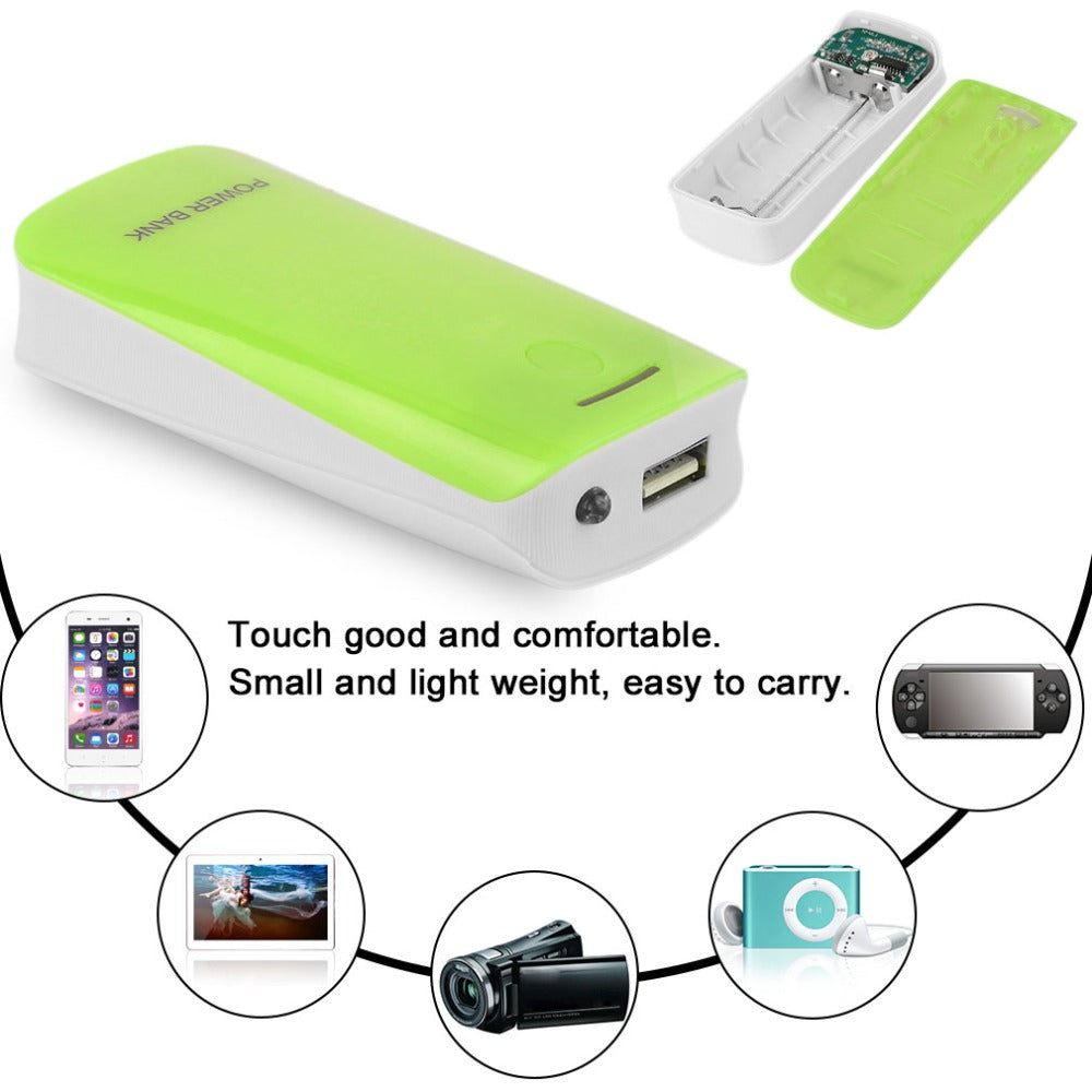 Creative Design 5600mAh USB Charging Portable External Backup Battery Charger 2*18650 Battery