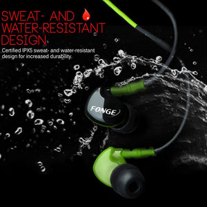 Fonge Waterproof Earphones In Ear Earbuds HIFI Sport Headphones Bass Headset with Mic for xiaomi