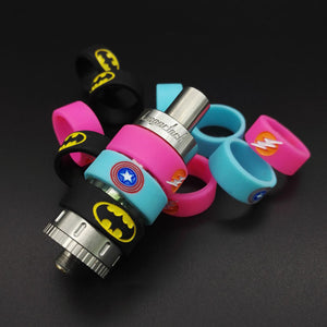 Batman Superman Non Slip Rubber Band Silicone Vape Band Ring for e-Cigarette RTA/RDTA/RBA Atomizer