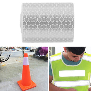 5cmx3m Safety Mark Reflective Tape Stickers For Bicycles Frames Motorcycle Self Adhesive Film