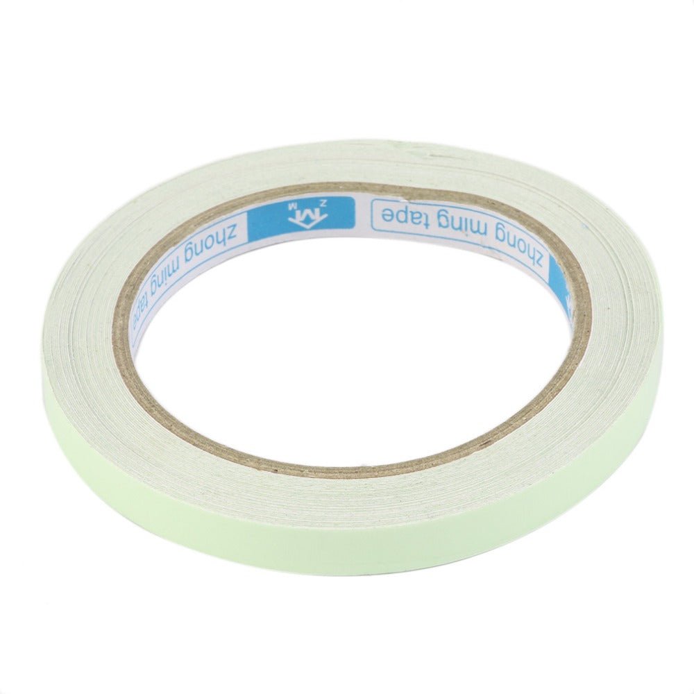 10M 10mm Luminous Tape Self-adhesive Warning Tape Night Vision Glow In Dark Safety Security Home