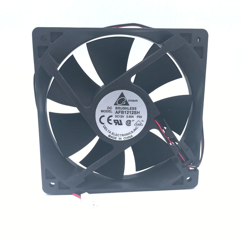 Delta fan AFB1212SH 12CM 120MM 12025 12V 0.80A Cooling Fan 2-p 3400 rpm 113CFM